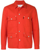 Ami Alexandre Mattiussi Pocket Detail Denim Jacket - Red - Size M