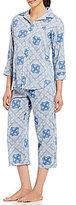 Lauren Ralph Lauren Bandanna Classic Capri Pajamas
