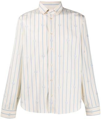 Gucci Striped Logo Print Shirt