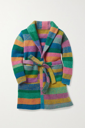 The Elder Statesman Kids - Ages 2 - 12 Striped Cashmere Robe