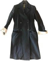 Ann Demeulemeester Grey Tweed Coat for Women