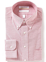 Roundtree & Yorke Gold Label Non-Iron Regular Full-Fit Button-Down Collar Solid Oxford Dress Shirt