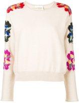 Chloé embroidered floral jumper
