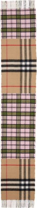 Burberry Found Check & Giant Check Cashmere & Merino Wool Scarf