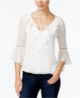 Amy Byer Juniors' Bell-Sleeve Blouse