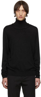 Isabel Benenato Black Double Layer Turtleneck