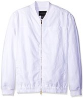 Sean John Men's Big and Tall Two Tone Linen Bomber