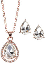AK Anne Klein Rose Gold-Tone Necklace & Earrings Set