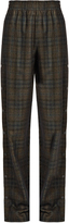 Maison Margiela High-rise checked wool-blend wide-leg trousers