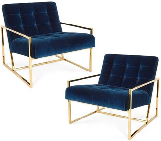 Jonathan Adler Goldfinger Lounge Chair Bundle