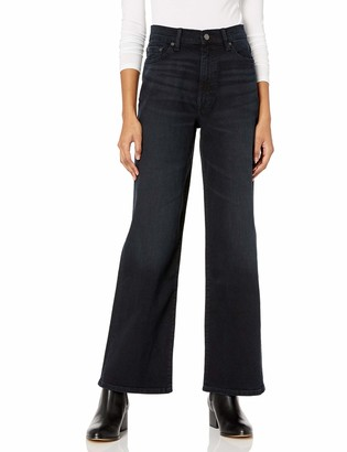 The Drop Women's Lizzy High-Rise Wide Leg Marine Fit Jean