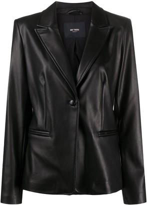 Twin-Set Leather Effect Blazer