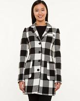 Le Château Plaid Wool Blend Reefer Coat