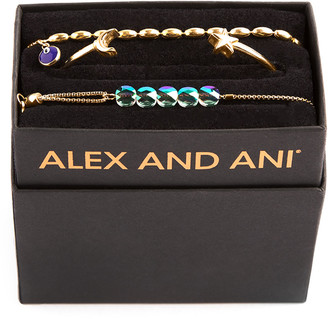 Alex and Ani Galaxy Moon & Star Bracelets, Set of 3, Gold