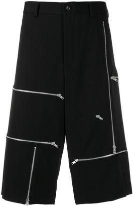 Comme des Garcons Zip Embellished Shorts