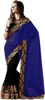 Fab Glory® Fab Glory Women's Faux Georgette Heavy Designer Saree With Blouse Piece