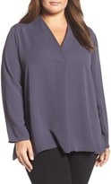 Nic+Zoe Majestic Matte Satin Blouse (Plus Size)