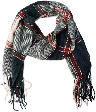 Tickled Pink Accessories Women's Kendall Fall Winter Classic Tartan Plaid Scarf with Fringe