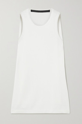Haider Ackermann Wool And Silk-satin Tank - White