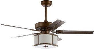 Jonathan Y Designs Edith 52In 3-Light Metal/Wood Led Ceiling Fan With Remote