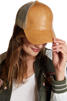 C.C CHEVEUX Faux Leather Trucker Hat