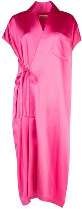 Balenciaga Wrap Front Dress