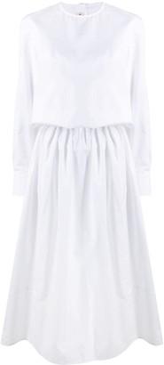 Marni Gathered-Waist Mid-Length Dress