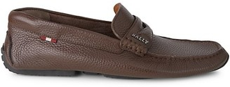 Bally Pebbled Leather Driver Loafers