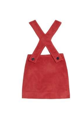 Oscar de la Renta Corduroy Overall Dress