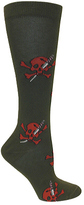 Ozone Women's Skull & Stiletto Knee High Sock (2 Pairs)