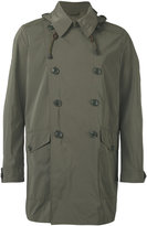 Aspesi double breasted military coat - men - Polyamide/Polyester - S