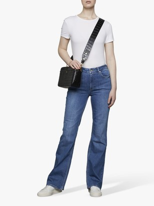 Jigsaw High Rise Flared Jeans, Vintage Blue