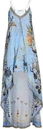 Camilla Printed Silk High-Low Dress