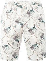 08sircus floral print shorts - men - Cotton/Cupro - 4