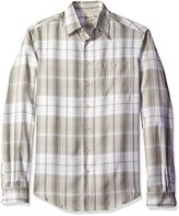 Haggar Men's Big and Tall Long-Sleeve Microfiber Woven Shirt