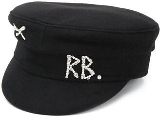 Ruslan Baginskiy Monogram Embellished Baker Boy Hat