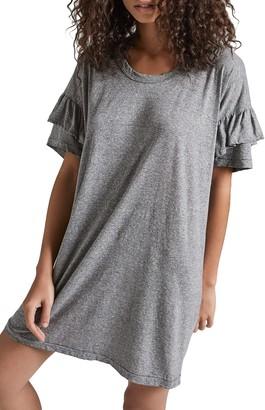 Current/Elliott Ruffle Roadie T-Shirt Dress