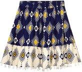 Masala Navi Print Skirt (Toddler/Kid) - Navy - 2 Years