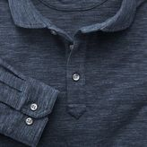 Charles Tyrwhitt Denim blue long sleeve polo