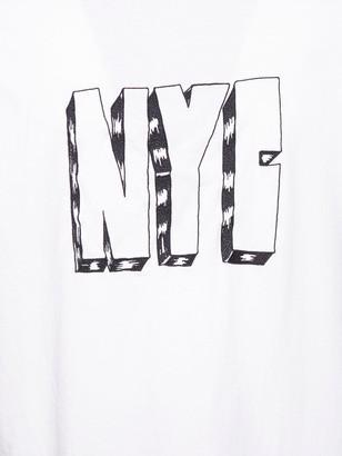 Heron Preston Contrasting Graffiti Logo T-shirt White
