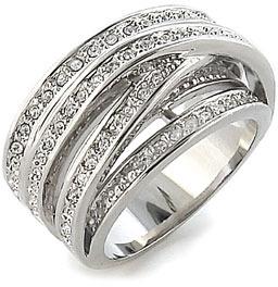 Ariella Collection Crossing Pavé Cubic Zirconia Ring
