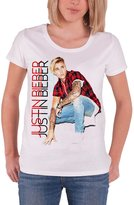 Justin Bieber T Shirt womens purpose Plaid new Official skinny fit