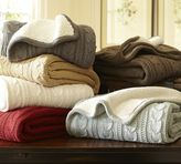 Pottery Barn Cozy Cable-Knit Throw