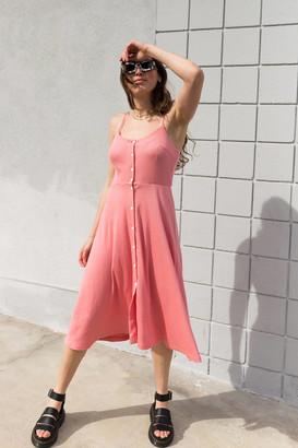Lisa Says Gah Gwen Knit Button-Front Midi Dress