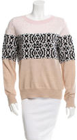 Thakoon Patterned Bateau Neck Sweater