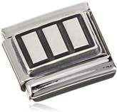 Nomination Women's Charm 925 Silver Oxidized Stainless Steel 330102 Rectangles 3 / 16