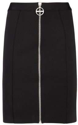 Givenchy Zip Front Mini Crepe Skirt