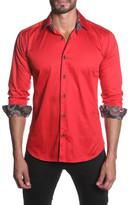 Jared Lang Printed Trim Semi-Fitted Shirt