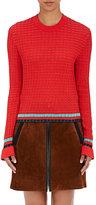 3.1 Phillip Lim Women's Striped Cotton Flutter Sweater-BERRY