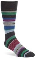 Bugatchi Men's 'Wide Stripe' Socks
